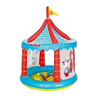 Bestway Fisher-Price Children's Inflatable Circus Ball Pit tent, Includes 25 Balls