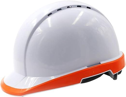 Sombrero Duro Blanco Casco ABS con Bordes Fluorescentes, túnel ...