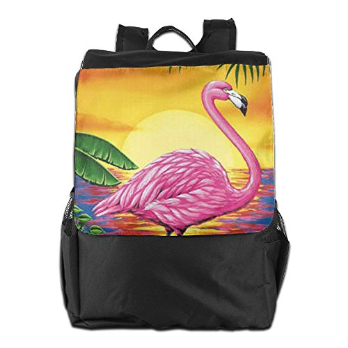 School Women for Adjustable and Backpack HSVCUY Strap Flamingo Beach Dayback Shoulder Storage Personalized Travel Camping Men Outdoors w1wn86TqX