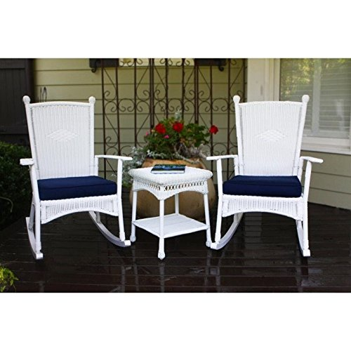 Tortuga Portside 3 Piece Patio Bistro Set in White by Tortuga Outdoor