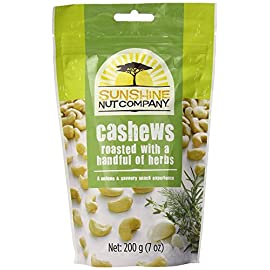 Sunshine Nut Company Cashews 7 oz 16 For something new, our cashews with a Handful of Herbs are roasted in sunflower oil and lightly seasoned with fragrant herbs to enhance their natural flavour. Sunshine Nuts are the greatest tasting cashews under the Sun! Grown and roasted in Mozambique, our cashews are some of the freshest cashews you will ever enjoy! Our cashews are roasted in sunflower oil and lightly seasoned with natural flavoring for excellent taste.