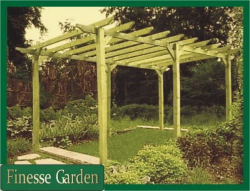 Handmade wooden garden Pergola structure 16ft x 16ft or made to measure.