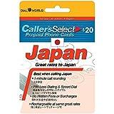 $20 Callers Select Japan Prepaid Phone Card for
