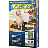 Protect Me Alert Series Potty Patch Economical Dog Litter Box and Grass Patch that Will Train Your Puppy and Keep Home Clean, Large - For Pets Over 15 lbs