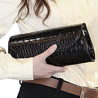 ILISHOP On Sale Women's Envelope Clutch Patent Croc Skin Party Clutch Fashion Shoulder Bags For Lady