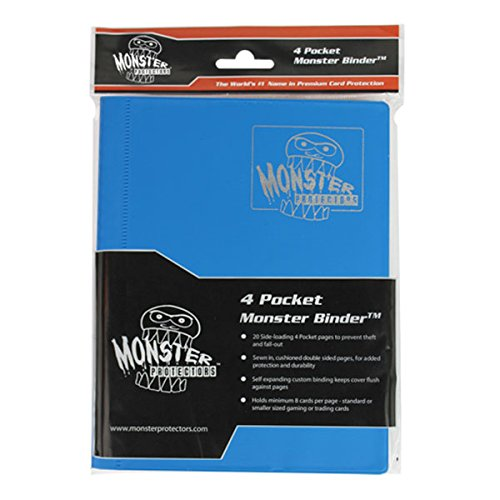 Monster Protector MB-4P-MAB 4-Pocket - Matte Aqua Blue by Monster Protector