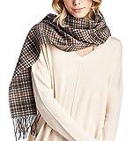 High Style 100% Lambswool Men and Women Pashmina Scarf (S0911535, BrownCamel)