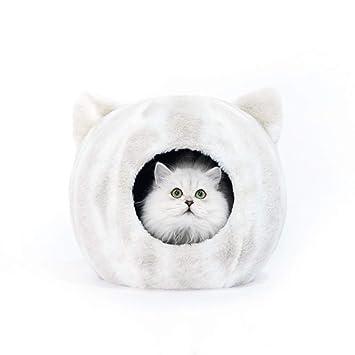 KYCD Nido de Perro Cerrado para Gatos, casa de Cama de Gato Caliente y acogedora
