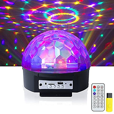 ihoven Disco Ball Lights, 9 Colors Rotating LED DJ Light Crystal Magic Party Stage Lights Sound Activated Strobe Disco Lamps for KTV Xmas Wedding Show Club Pub Karaoke Nightclub with Remote (9 Dj Rack)