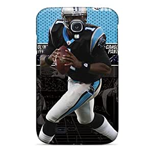 Scratch Resistant Cell-phone Hard Covers For Samsung Galaxy S4 With Unique Design Nice Carolina Panthers Skin CharlesPoirier