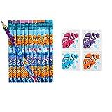 CLOWNFISH PARTY Favors - 24 Pencils 144 Tattoos - Parties Classroom TEACHER Rewards Nemo