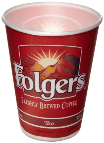 Trophy Foam (SOLO X12F Trophy Foam Cup, Folgers Design, 12 oz. Capacity (1 Pack of 1,000))
