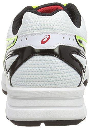ASICS Gel-Galaxy 8 Gs - Zapatillas de correr para niños Blanco (White/Flash Yellow/True Red 0107)