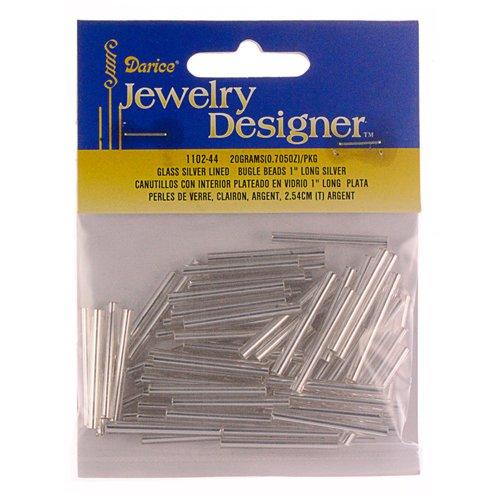 Darice Silver-Lined Bugle Beads - - Bead Fringe Bugle