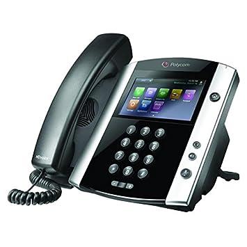 Polycom VVX 601 - Teléfono IP (Negro, Terminal con conexión por Cable, 1000
