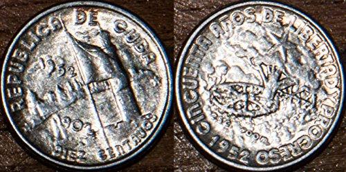 1952 Silver Dime - 1952 No Mint Mark 1952 Cuban coin silver 10 centavos 10 centavos Seller AU Uncirculated