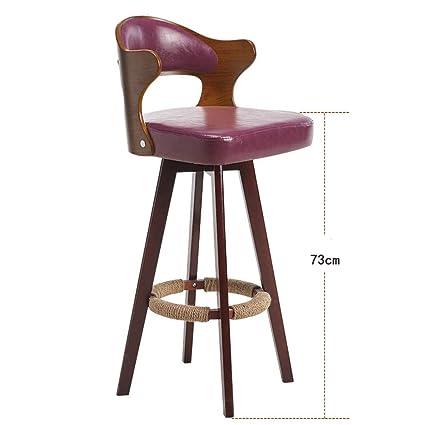 Furniture Backrest Solid Wood Bar Chair Bar Chair Bar Stool Bar Stool Simple Household High Chair Front Desk Chair.
