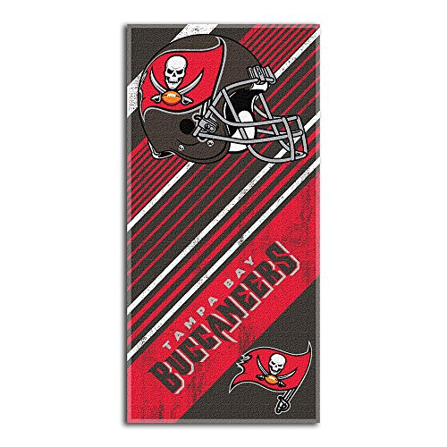NFL Tampa Bay Buccaneers Diagonal Beach Towel]()