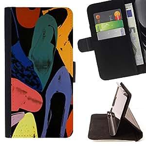 """For Samsung Galaxy J3(2016) J320F J320P J320M J320Y,S-type Arte abstracto de colores de la acuarela"""" - Dibujo PU billetera de cuero Funda Case Caso de la piel de la bolsa protectora"""