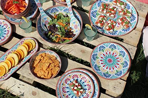 Epicurean Rio Médaillon Pièce 2-Outdoor Salade Serving Set