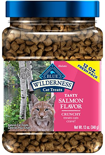 Blue Buffalo Wilderness Crunchy Cat Treats Grain Free Salmon, 12Oz ()