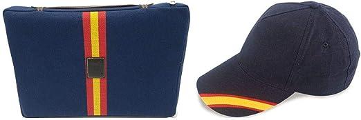 Crisandecor Set Almohadilla Azul Taurina y Gorra con los Colores ...