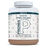 Hydrolyzed Collagen Peptides Powder Complete Protein I Grass Fed, Pasture Raised Cows I Flavorless, Odorless I Keto Paleo Gluten Free I Organic Chocolate I Non GMO BCAA I Lean Muscle + Joints, Promix