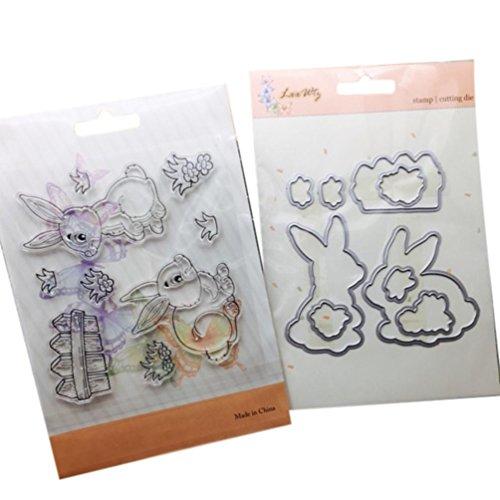 (Cutting Dies,Pollyhb Metal Cutting Dies Stencils Scrapbooking Embossing DIY Crafts,Bird Snowman Animal Tree Dog Rabbit Dinosaur Monkey Gift,for Card Making Scrapbooking)