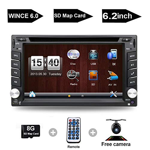 Navigation Seller - Privileged Sale Universal Car Double Din In-Dash GPS Navigation With Touch Screen & Free Backup Camera