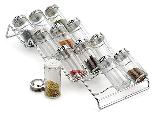 Spice Rack and 12-Bottle Set - Endurance (Chrome) (3.25
