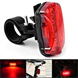 Ascension  Waterproof Bike Bicycle Multifunctional light New Bright Bicycle 5 LED Front Head and Tail rear Light Road Safety Lights for Bikes Cycle