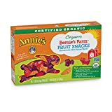 Annie's Organic Bernie's Farm Fruit Snacks,0.8 Ounce,5 Count