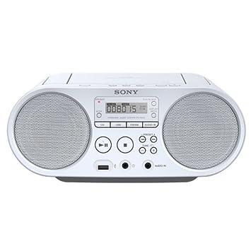 9f167bf7738554 Sony ZSP-S50W Lecteur CD MP3, USB, Radio - Blanc  Amazon.fr ...