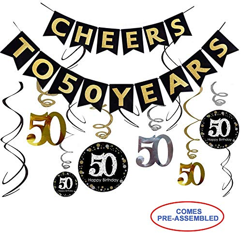 50th Birthday Party Decorations Kit - Cheers to