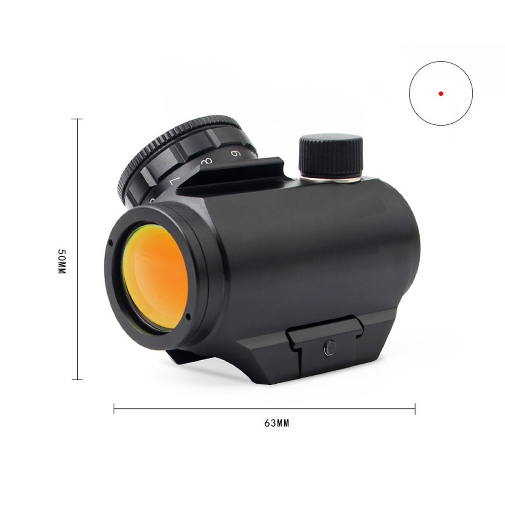 Higoo Picatinny Mount Micro Red Dot Sight, 2 MOA Compact Red Dot Scope by Higoo