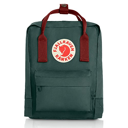 Fjallraven Kanken Mini Daypack, Forest Green/Ox Red