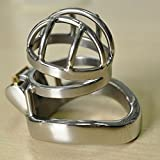 Cock Cage Chastity Cage Chastity Device for Male Penis Exercise ,Steel Metal Belt Restraint Men Bondageromance 1.77 inch/ 4.5cm