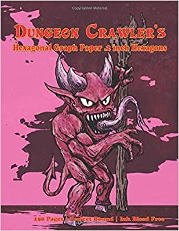 amazon dungeon crawler s hexagonal graph paper 2 inch hexagons