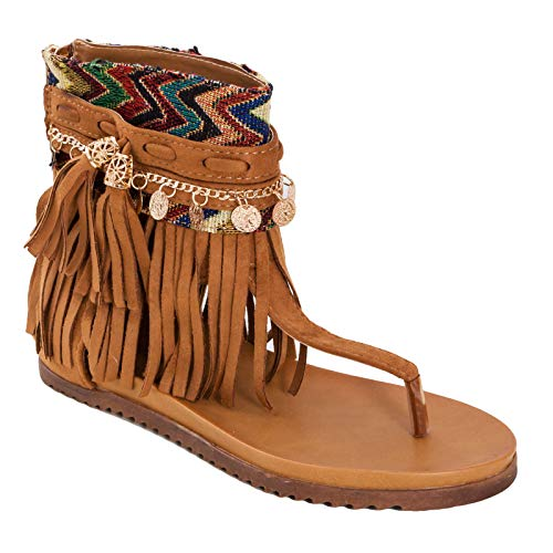 Donna Donna Indianini Toocool Camel Camel Camel Infradito Stivali camoscio BBL7190 EPwAxOqfw4