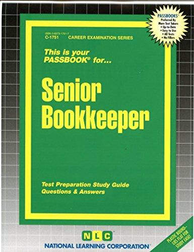 Senior Bookkeeper(Passbooks)