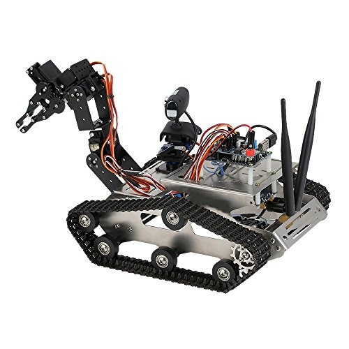 GOOLSKY THRobotEx Wifi RC Car with1.3MP HD Camera Smart DIY Crawler Robot Tank Support PC Mobile Phone Control - Diy Tank