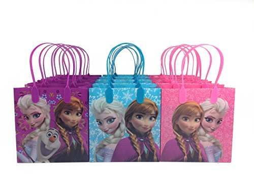 (12ct) Disney Nickelodeon Marvel Birthday Goody Gift Loot Favor Bags Party Supplies (Frozen)
