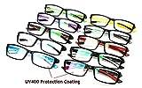 Beison Sports Optical Eyeglasses Frame Plain Glasses Clear Lens UV400