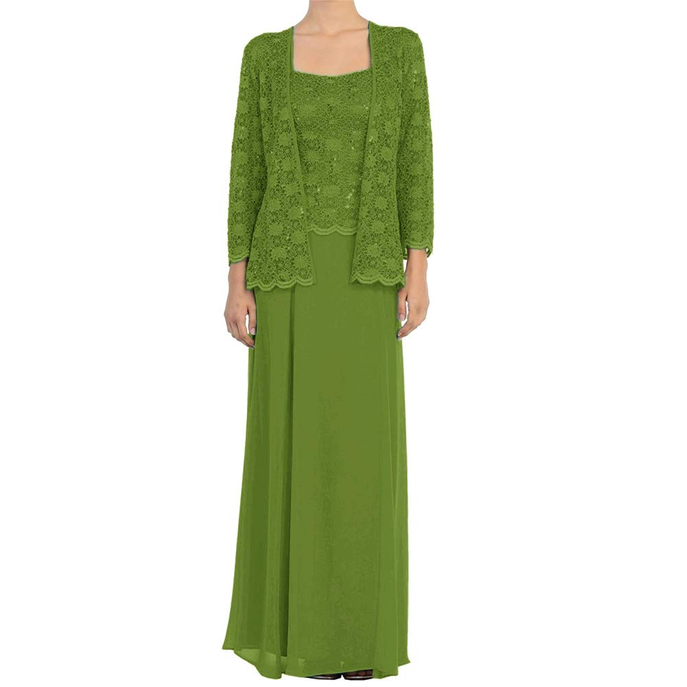 Olive H.S.D Mother of The Bride Dress Lace Long Formal Gowns with Jacket