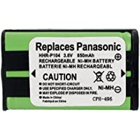 Rayovac RAY193 Cordless Phone Battery Ni-MH, 3.6 Volt, 850 mAh - Ultra Hi-Capacity - Replacement for Panasonic HHR-P104 Rechargeable Battery