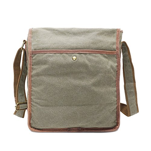 Bag Army Green Yiwuhu Canvas Color Shoulder Messenger Waterproof Classic Simple Retro Zipper paq0BA