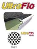 (100 feet) Ultra Flo Leaf Guard Gutter Protector for 5'' K-Style Gutters. Micro X Micromesh. 25 panels x 4.00' each.