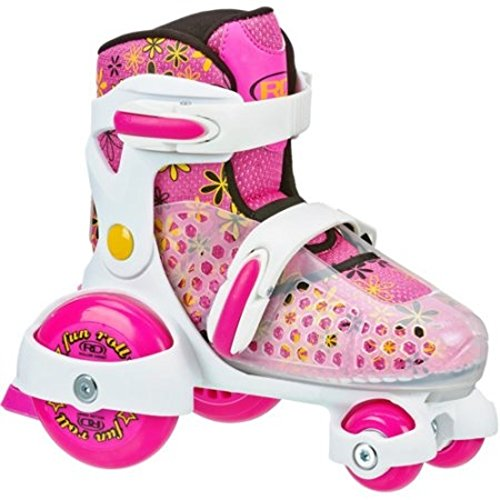 Roller Skates Fun Roll Girls' Jr. Adjustable, Medium by Roller Derby