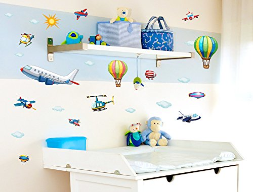 Airplane Wall (I-love-Wandtattoo WAS-10010 Wall stickers Kids
