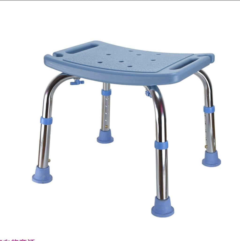 アルミ製のバスチェア古いバスチェアシャワーチェア妊婦バスルームスツールノンスリップバススツールアームレスト背もたれスツール (色 : 青) B07GGL2NMM 青 青